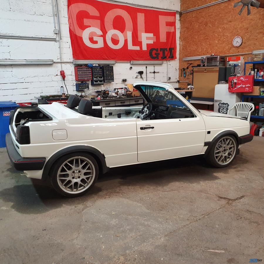 Golf 2 Speedster im Aufbau