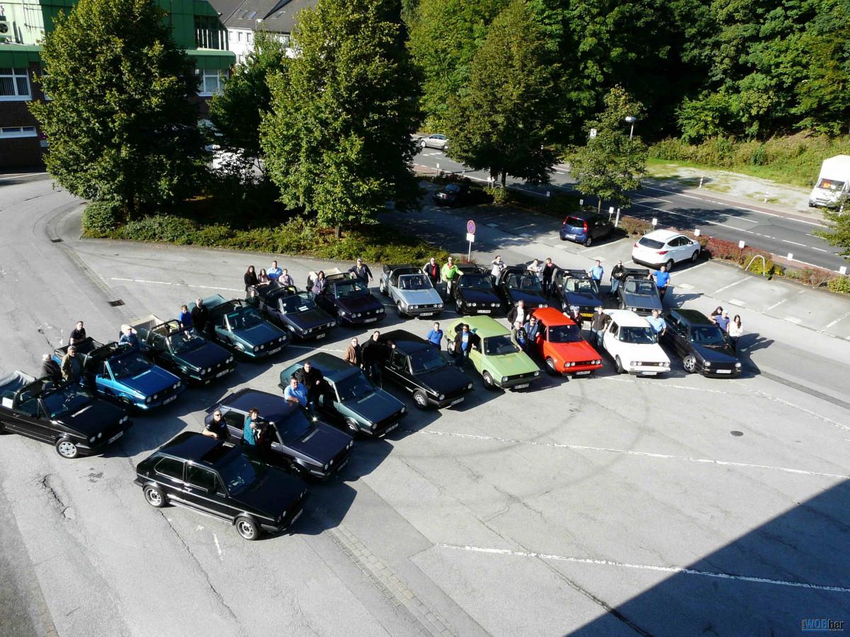 """Herbstausfahrt 2012 der """"1. Original Golf 1 IG e.V."""""""