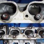 Ausbau 16V Motor mit bearbeitetem Kopf und Brücke